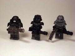 Minigun Comparison (*Nobodycares*) Tags: trooper soldier lego awesome review pedro hazel guns cyborg comparison reference helghast killzone brickarms miniguns eclipsegrafx