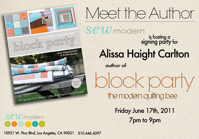 If you're in LA, I hope you'll come to my signing party!