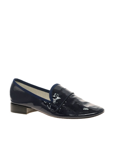 Repetto Michael Patent Slip On Flat Shoes