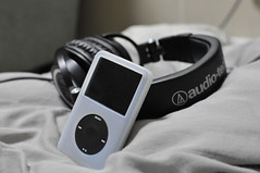Audio Technica ATH-M50 with iPod Classic 160GB (Ryu1chi Miwa) Tags: classic ipod audio technica 160gb athm50