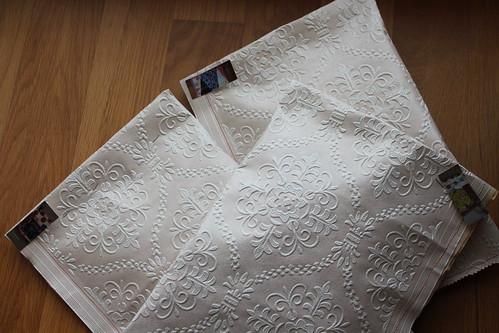 Sacos Selvages com rosetas em crochet (#1, #2 e #3)