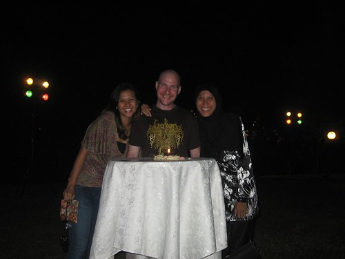 Waffa, her friend and I at masquerade ball