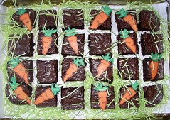 Easter carrot patch (mommawants1more) Tags: kids easter chocolate carrots brownies kidsfood