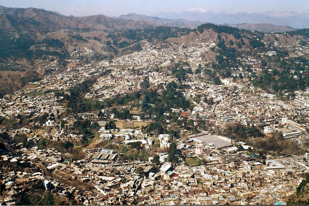 Overview of Abbottabad taken in 2005, in which concrete jungle has replaced old pine and chinar trees