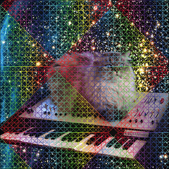 Keyboard Cat with rainbow diamond design (JAHPEACEFUL666) Tags: cat this rainbow keyboard doesnt no space letters myspace have fractals because duh mindblowing megazord