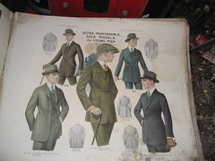 Turn of the century mail order or salesman sample antique clothing catalog