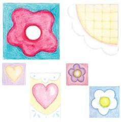 Flores (Lucia Helena Cesar) Tags: flores beb feltro desenhos molde riscos aplicao patchcolagem