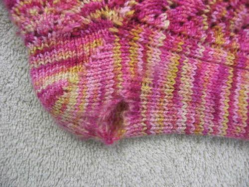 Worn sock