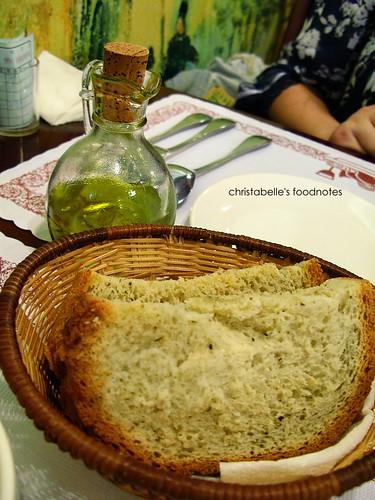 淡水河畔義麵館烤香草麵包
