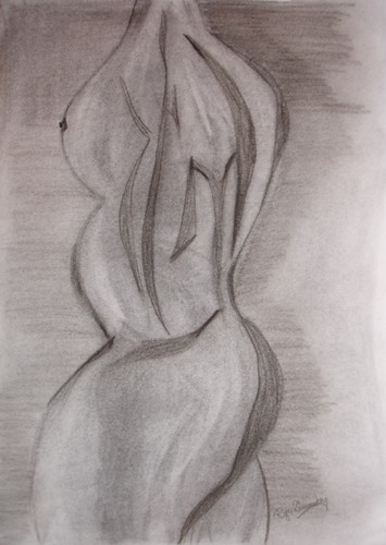 Charcoal Abstract Nude