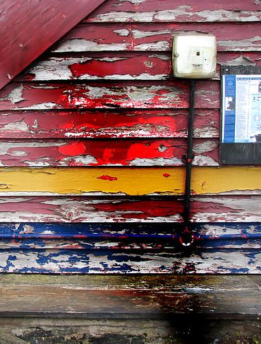 Weathered wall, Barmouth