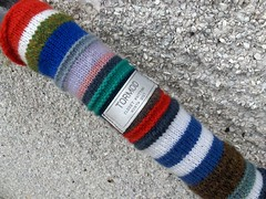 knitted graffiti detail
