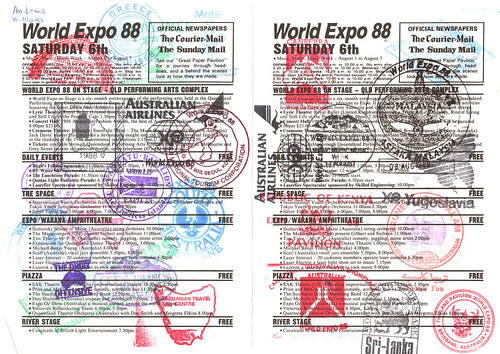 Stamped programme - Expo 88