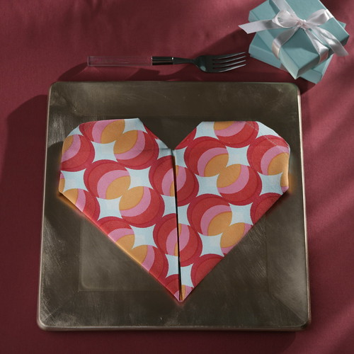 Napkin Origami Heart