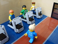 treadmills (S.L.Y) Tags: lego exercise gym treadmill