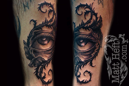 Eye of thorns Tattoo