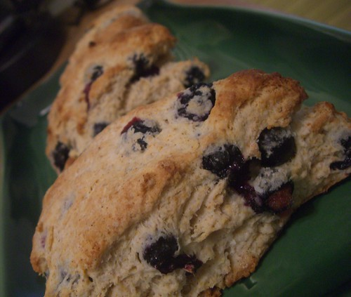 blueberry, cinnamon and ginger scones
