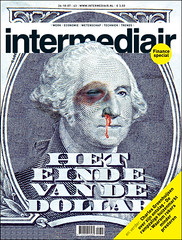 cover design Intermediair magazine (jaap!) Tags: blue money eye art up illustration magazine nose photography design fight graphic cover dollar beat end covers bloody jaap biemans artdirection coverdesign artdirector
