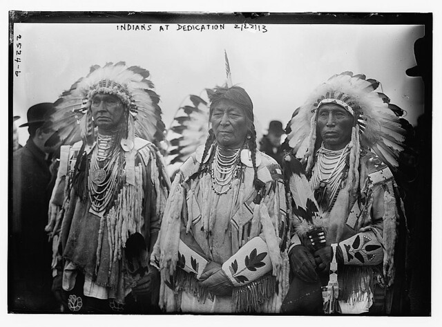 Indians at dedication (LOC)