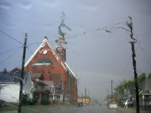 Rainy Church Rainbow