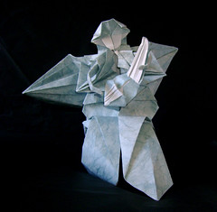 angel playing the lute (Araknoid) Tags: angel origami soe lute origamiforum supershot fumiakikawahata kawahata platinumphoto araknoid