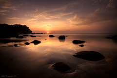 * (Chee Seong) Tags: longexposure beach rock clouds sunrise sand searchthebest malaysia hdr kuantan telukcempedak canon1022mm canan nd400 400d infinestyle whydontyouaddittoamapwouldbeawesometoknowwhereitwastaken
