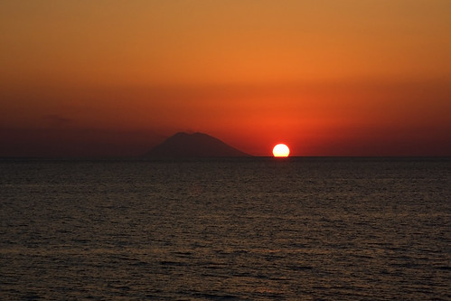 Sunset over Stromboli #1