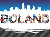 The James Boland (sκullface) Tags: blue ohio collage skyline print poster typography james purple stripes cleveland letters diagonal gradient lettering typo boland cle typog thejamesboland mybffbusinesspartnerparamour