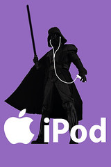 Darth Vader shilouette ipod iphone Wallpaper