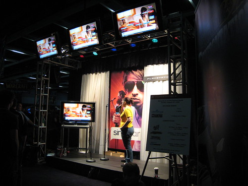 SingStar Area of the Sony Booth