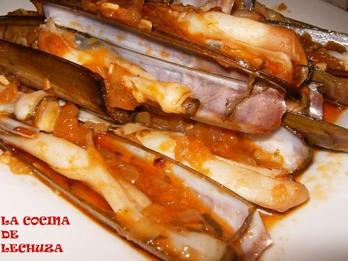 Navajas-salsa cerca