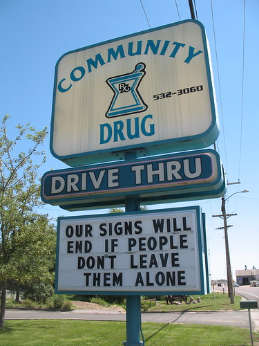 Our signs will end if people don't leave them alone