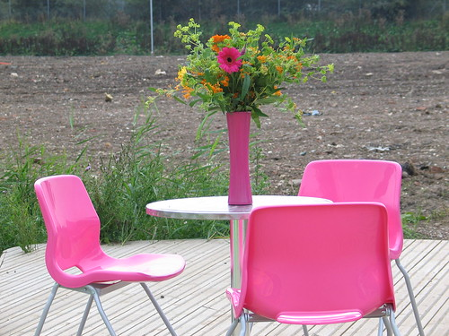 Ikea pink chairs, via Flickr: ayeupmeduck