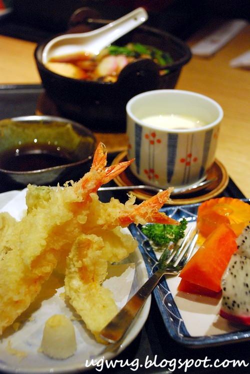 Beef Sukiyaki Set with Tempura