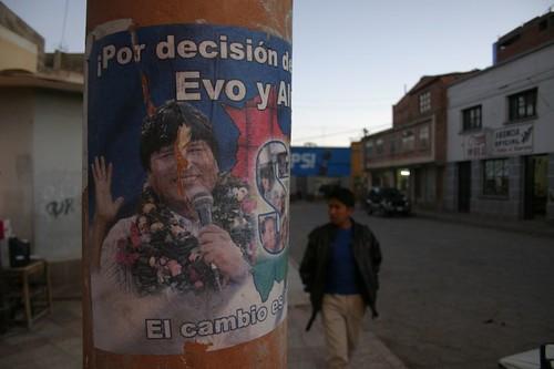 Evo si!!! Political poster in Tupiza, Bolivia.