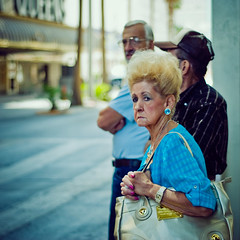 dolce lady (andrew sea james) Tags: street portrait urban woman lady 50mm nikon lasvegas nikkor f18 crosswalk dolcegabbana d60