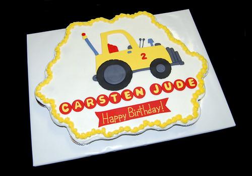 tow truck birthday cupcake cake