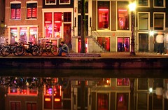 15 Minutes (aforero) Tags: reflection netherlands amsterdam lights prostitution redlights hookers