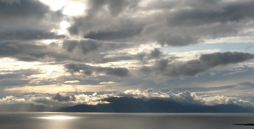Clouds clearing from Arran
