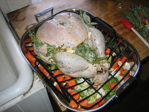 Turkey before it went in the oven