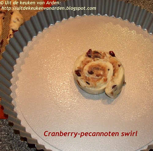 Cranberry-pecannoten swirl