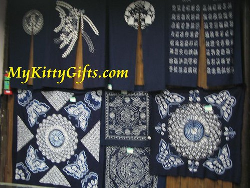 Hello Kitty's View of Flower-Printed Blue Cloth in Wu Zhen