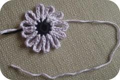 flor de crochê passo 6
