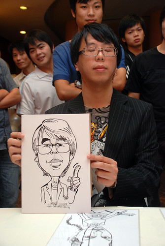 Caricature live sketching for Nippon Express Singapore Pte Ltd - 2