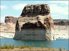Huge Rock in Lake Powell, Utah (Tracey Tilson Photography) Tags: 2005 lake water june rock marina boat utah ut nikon huge jetski picnik lakepowell enormous wahweap wahweapmarina ec