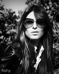 Alexia (Wil Camilleri) Tags: woman beauty sunglasses fashion blackwhite alexia gilr fotowalk3