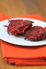 Sweet Potato Beet Latkes 1