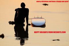 MerryChristmas2008 (mcshots) Tags: ocean california sunset usa beach water coast losangeles sand socal surfers mcshots happyholidays merrychristmas smrgsbord