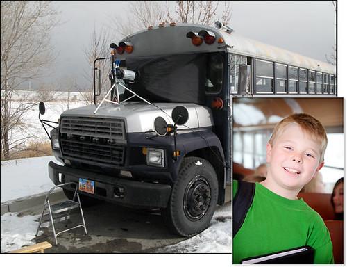 Behind the Scenes - School Bus Photo Shoot