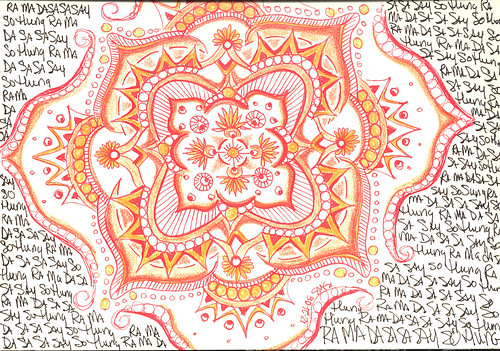 Mandala with healing mantra - created with intent